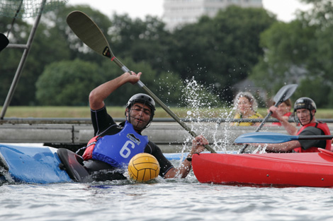 Canoe polo in London