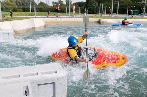 white water kayaker on Lee Valley Legacy course