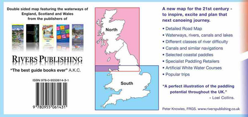 Canoe and Kayak Map of Britain, back of map