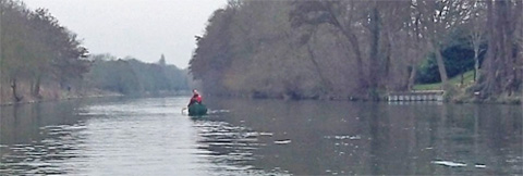 Canoeing on the Thames near Shepperton