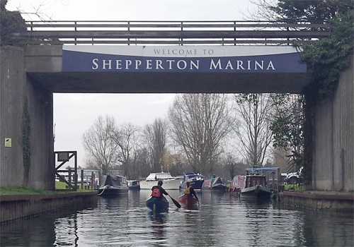 Canoes at Shepperton Marina