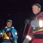 SUP on the Thames at night