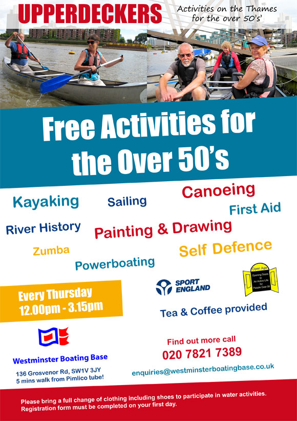 Activities for over 50s near me