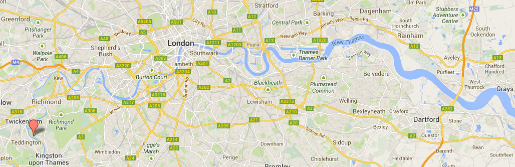 Map Of River Thames Through London  London Map
