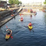 Level 1 canoe coaching course at Shadwell Basin, February 2014