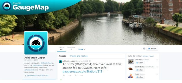 GaugeMap: new online map of river levels across England and Wales