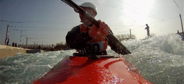 Kayak coaching for older paddlers at Lee Valley