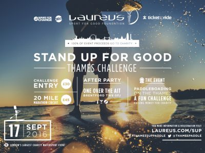 'Stand Up for Good' Thames Challenge and Marathon' 17 September 2016