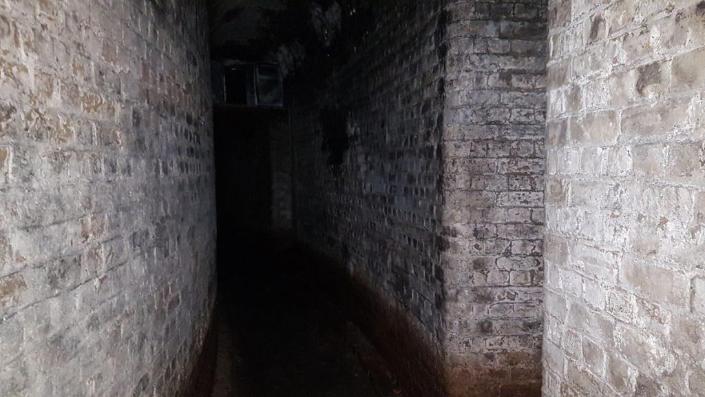 The unlit passageways of Fort Hoo